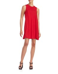 Dkny Pleated Shift Dress Red