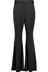 Iris And Ink Satin Crepe Flared Pants Black
