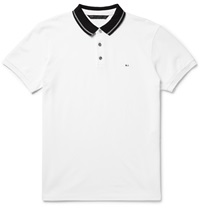 Marc By Marc Jacobs Contrast Collar Cotton Pique Polo Shirt White