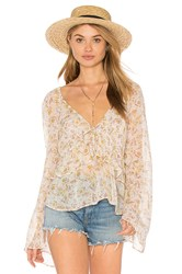 Free People Uptown Bell Sleeve Top White