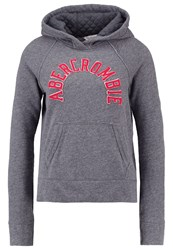 Abercrombie And Fitch Core Hoodie Grey Mottled Grey