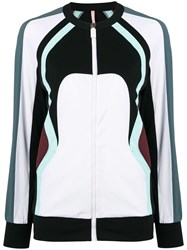 No Ka' Oi Colour Block Zip Jacket White