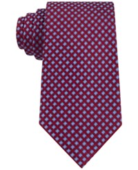 Club Room Men's Geo Pattern Classic Tie Only At Macy's Red