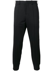 Neil Barrett Tailored Sweatpants Men Silk Cotton Polyester Viscose 46 Black