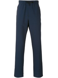 Theory Lumo Drawstring Trousers Men Cotton Polyester Spandex Elastane Wool S Blue