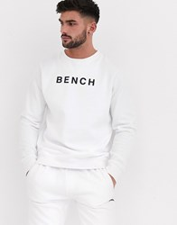 Bench Sweatshirt In Relaxed Fit With Vintage Font In Black White