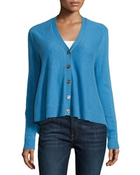 Minnie Rose Cashmere Swing Cardigan Blue