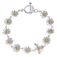 Martick Bee And Daisy Bracelet Silver Gold