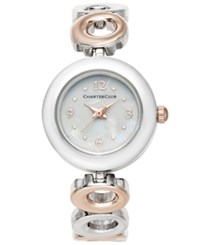 Charter Club Women's Two Tone Bracelet Watch 23Mm Only At Macy's Slv Rose