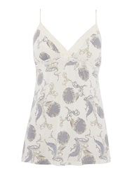 Linea Floral Scroll Jersey Cami Top Ivory