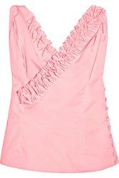 Jacquemus Seville Ruffled Cotton Top Pink