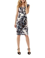 Phase Eight Sleeveless Printed Dress White Black