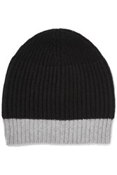 Duffy Ribbed Wool Blend Beanie Black