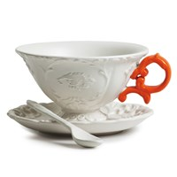 Seletti I Wares Porcelain Tea Set Orange