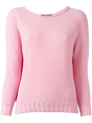 Cruciani Boat Neck Jumper Pink Purple