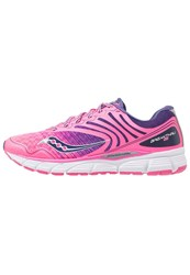 Saucony Breakthru 2 Cushioned Running Shoes Pink Navy