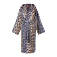 Missoni Home Stephen Hooded Bathrobe 100 Multi