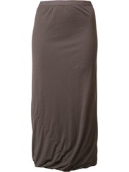 Rick Owens Lilies Draped Long Skirt Grey