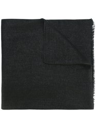 Brunello Cucinelli Frayed Scarf Black