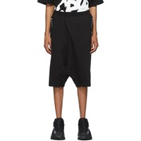 Julius Black Graphic French Terry Shorts