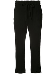 Raquel Allegra Cropped Trousers Women Cotton 2 Black
