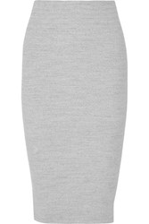 James Perse Ribbed Stretch Cotton Skirt Light Gray