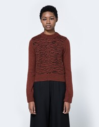 Ganni Richmont Mohair Sweater Brick Tiger