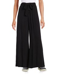 Splendid Wide Leg Crepe Pants Black