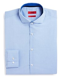 Hugo Jery Micro Check Slim Fit Dress Shirt Blue
