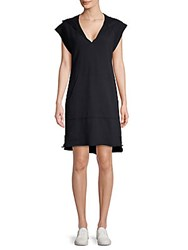 Ag Adriano Goldschmied Hooded Cotton Shift Dress After Dark