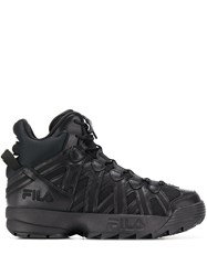 Fila Hi Top Oversized Sole Sneakers Black