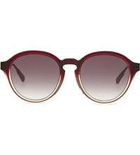 Kris Van Assche Kva79 Curved Keyhole Sunglasses Burgundy And Bronze