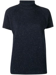 Circolo 1901 Roll Neck Knitted Top Blue