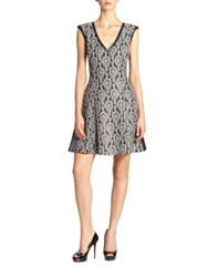 Abs By Allen Schwartz Lace Fit And Flare Dress Grey