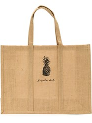 Osklen Pineapple Print Tote Bag Nude And Neutrals