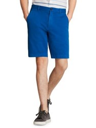 Brooks Brothers Comfort Stretch Cotton Twill Shorts Blue