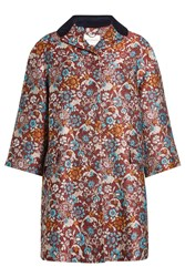 Mary Katrantzou Embroidered Coat With Silk Multicolored