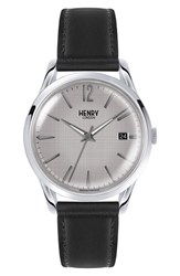 Henry London Piccadilly Leather Strap Watch 39Mm