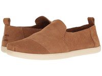 Toms Deconstructed Alpargata Toffee Suede Men's Slip On Shoes Brown