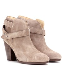 Rag And Bone Harrow Suede Ankle Boots Brown