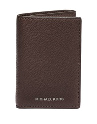 Michael Kors Leather Tri Fold Wallet Brown