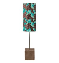 Jefdesigns Geode Cuboid Table Lamp Blue