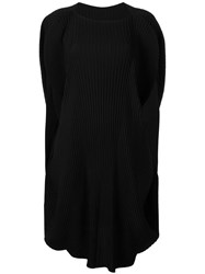 Issey Miyake Structured Pleated Dress Black