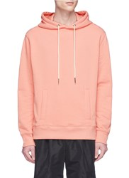 Rochambeau X Aaron Curry 'Bull Head' Graphic Print Hoodie Pink