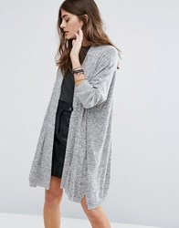 Pull And Bear Pullandbear Jersey Marl Cardigan Light Grey