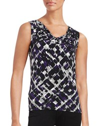 Calvin Klein Petite Geometric Cowlneck Shell Night