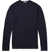 James Perse Cotton Jersey T Shirt Midnight Blue