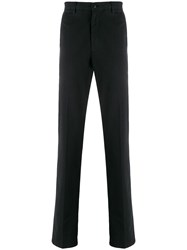 Z Zegna Straight Leg Chino Trousers Black
