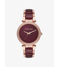 Parker Rose Gold Tone And Acetate Watch