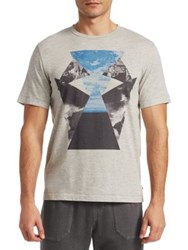 Madison Supply Sky Graphic T Shirt Light Grey